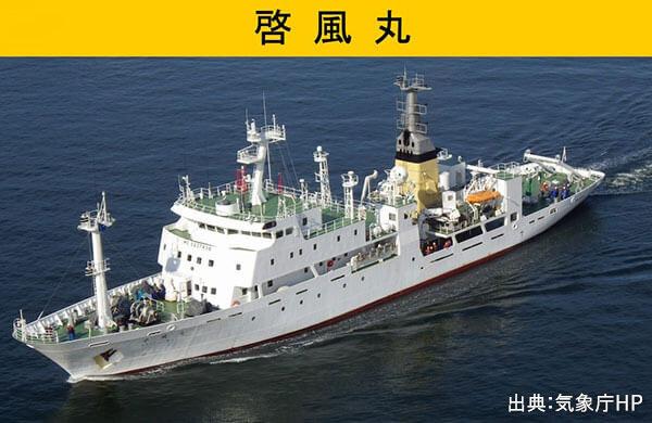 観測船による海洋気象観測開始。