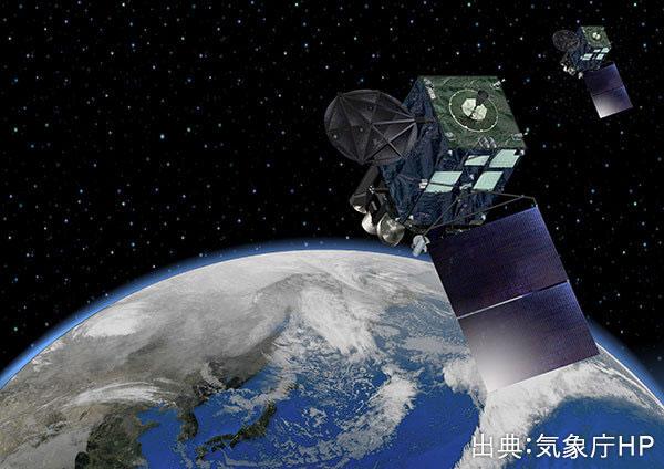 静止気象衛星ひまわり8号による観測開始。