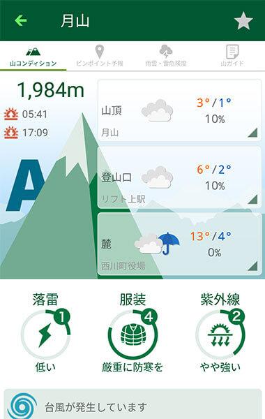 Android/iOS版アプリ「tenki.jp登山天気」をリリース。