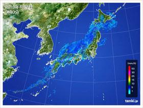 2010年4月2日0時の気象レーダー画像
