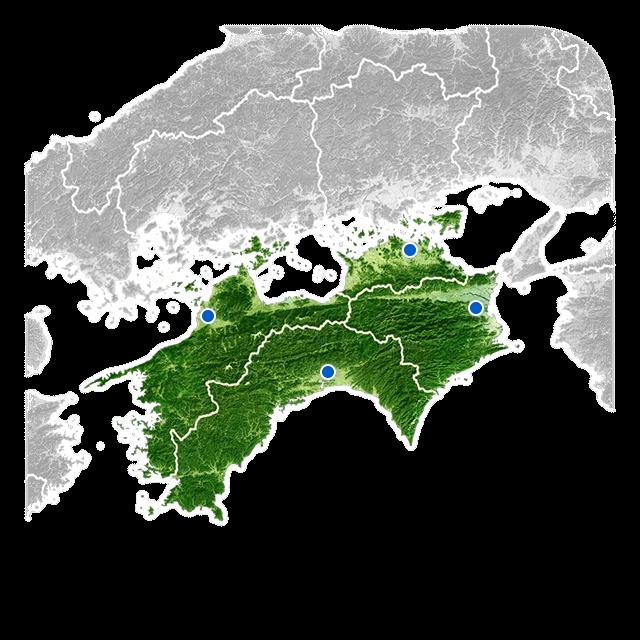 四国地方の天気
