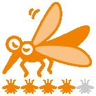 指数:蚊ケアLv4:しっかり蚊ケアで快適に