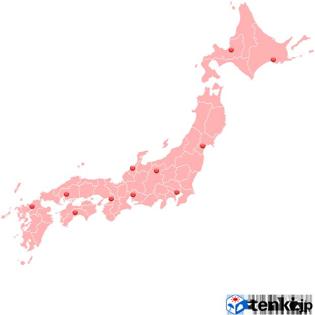 全国の桜開花情報地図