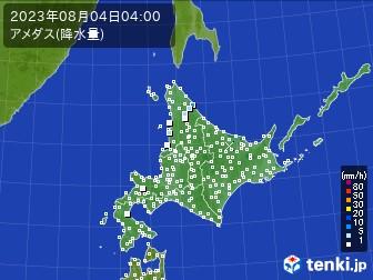 北海道地方のアメダス実況(降水量)