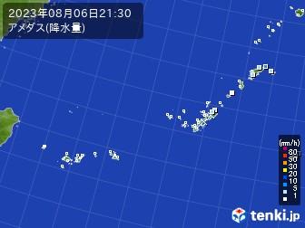 沖縄地方のアメダス実況(降水量)
