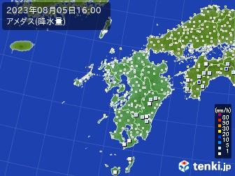 九州地方のアメダス実況(降水量)