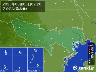 東京都のアメダス実況(降水量)