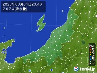 新潟県のアメダス実況(降水量)