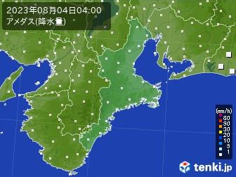 三重県のアメダス実況(降水量)