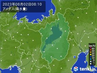 滋賀県のアメダス実況(降水量)
