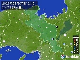 京都府のアメダス実況(降水量)