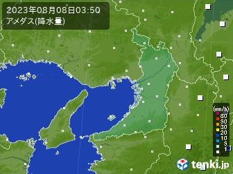 大阪府のアメダス実況(降水量)