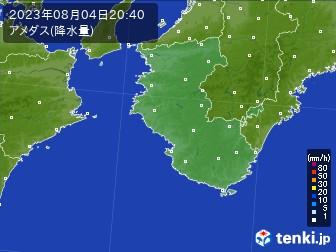 和歌山県のアメダス実況(降水量)