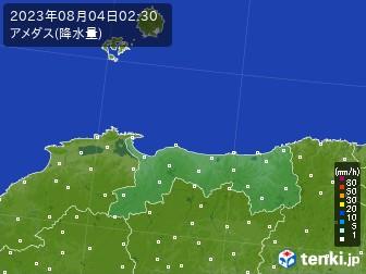 鳥取県のアメダス実況(降水量)