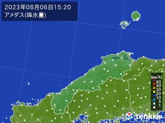 島根県のアメダス実況(降水量)