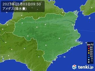 徳島県のアメダス実況(降水量)