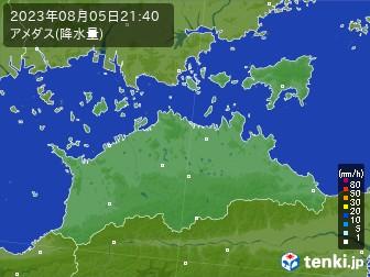 香川県のアメダス実況(降水量)