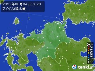 福岡県のアメダス実況(降水量)