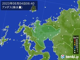 佐賀県のアメダス実況(降水量)