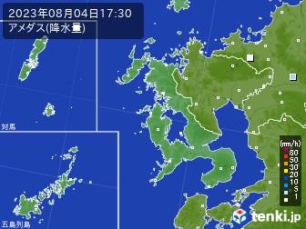 長崎県のアメダス実況(降水量)