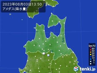 青森県のアメダス実況(降水量)