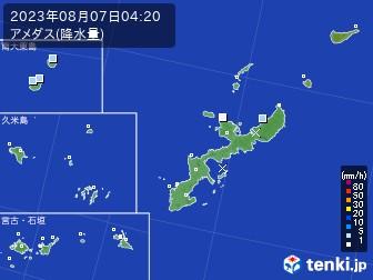 沖縄県のアメダス実況(降水量)