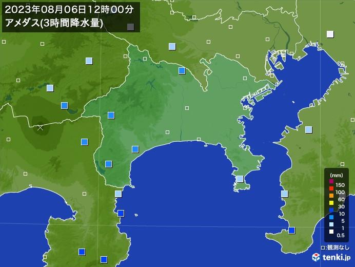 神奈川県のアメダス合計降水量(3時間)
