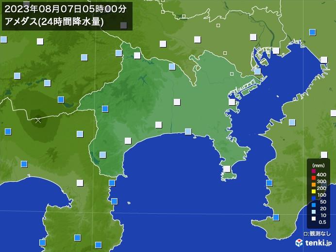 神奈川県のアメダス合計降水量(24時間)