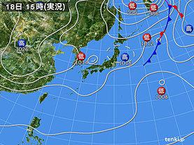実況天気図(1日前)