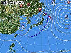 実況天気図(4日前)