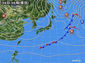 実況天気図(2日前)