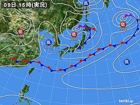 実況天気図(3日前)
