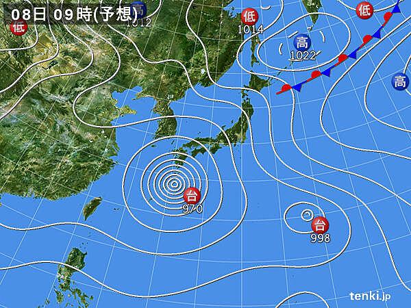 予想天気図(24時間)