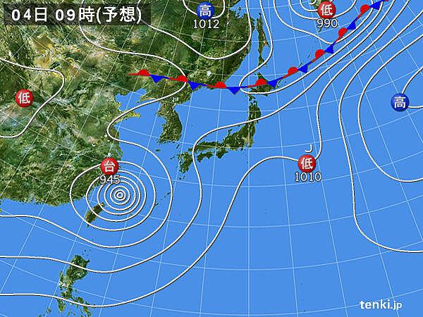 予想天気図(48時間)