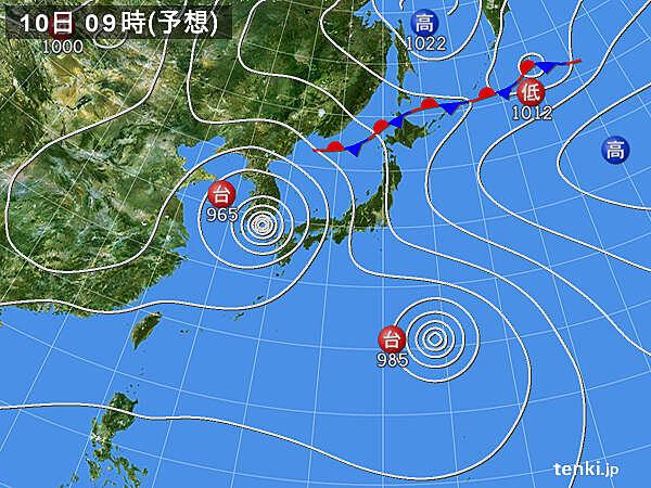 予想天気図(72時間)