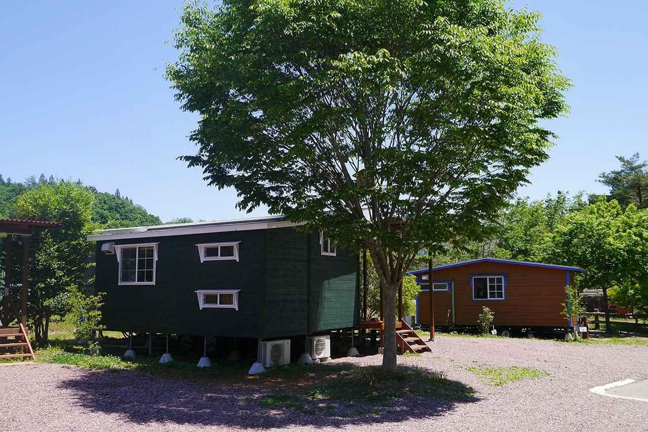 画像: パークトレーラー 満願ビレッジキャンプ場:ウッドグランデ www.manganvillage.com