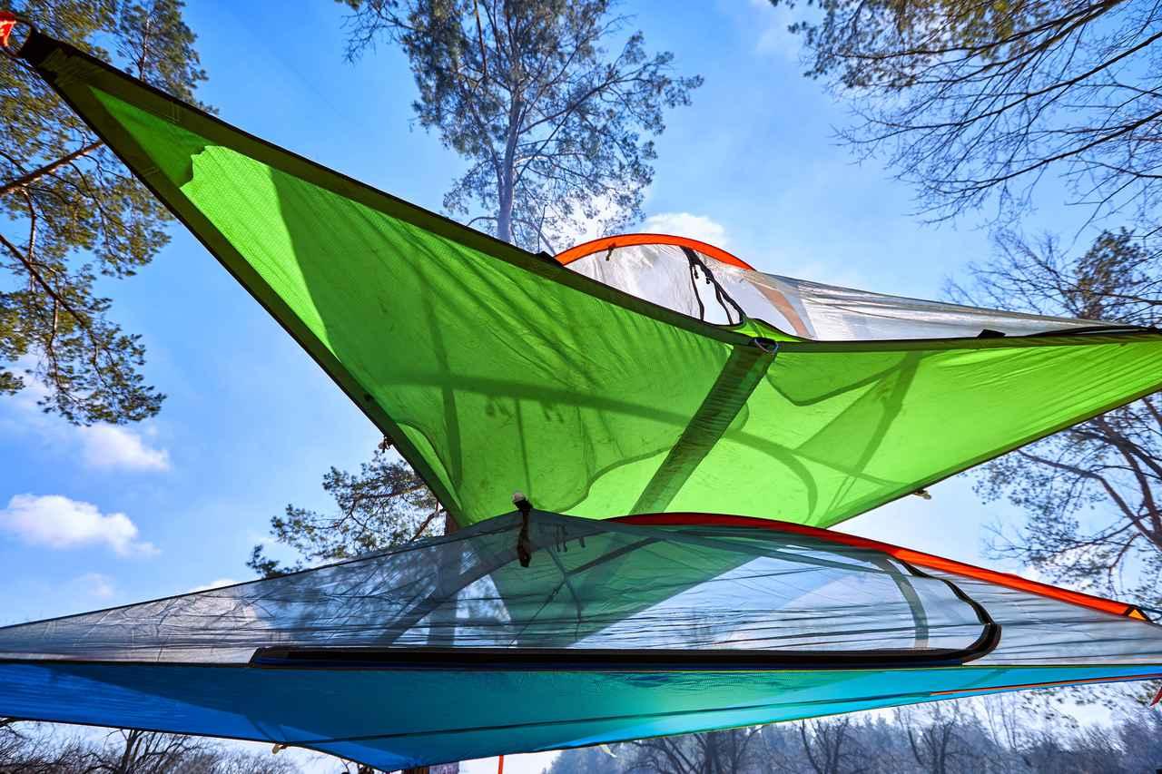 画像: 自由な発想と無限大の遊び!地面から浮くことで新たなアウトドアの楽しみが見えてくる空中テント