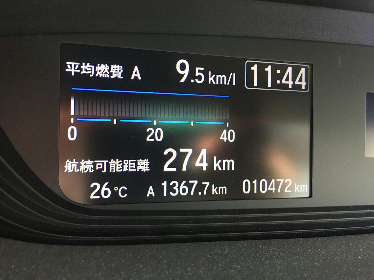 画像: 筆者撮影「燃費をリアルタイムで確認できる車も」