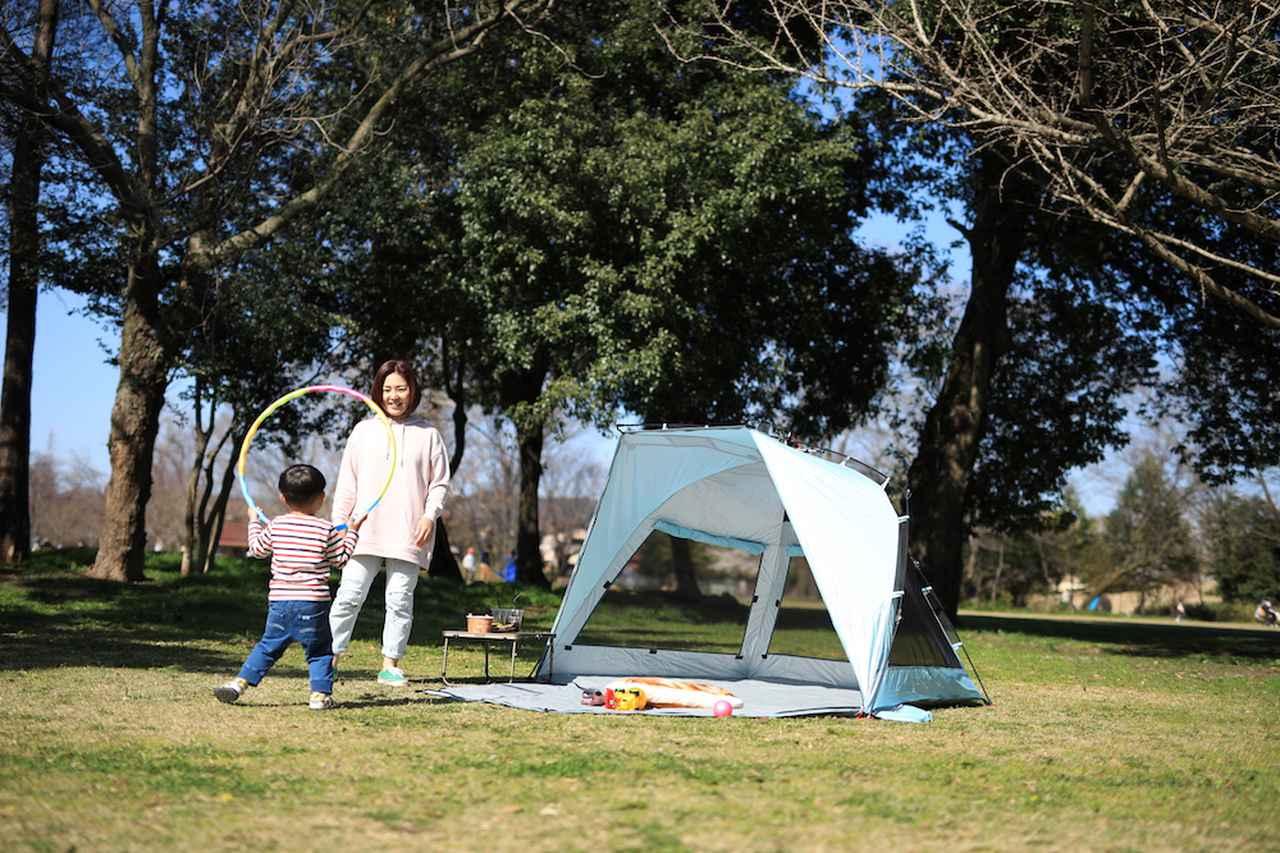 【注目リリース】「ピクニック」や「デイキャンプ」にもぴったりな、QUICKCAMP(クイックキャンプ)のサンシェード&ワンタッチテント。