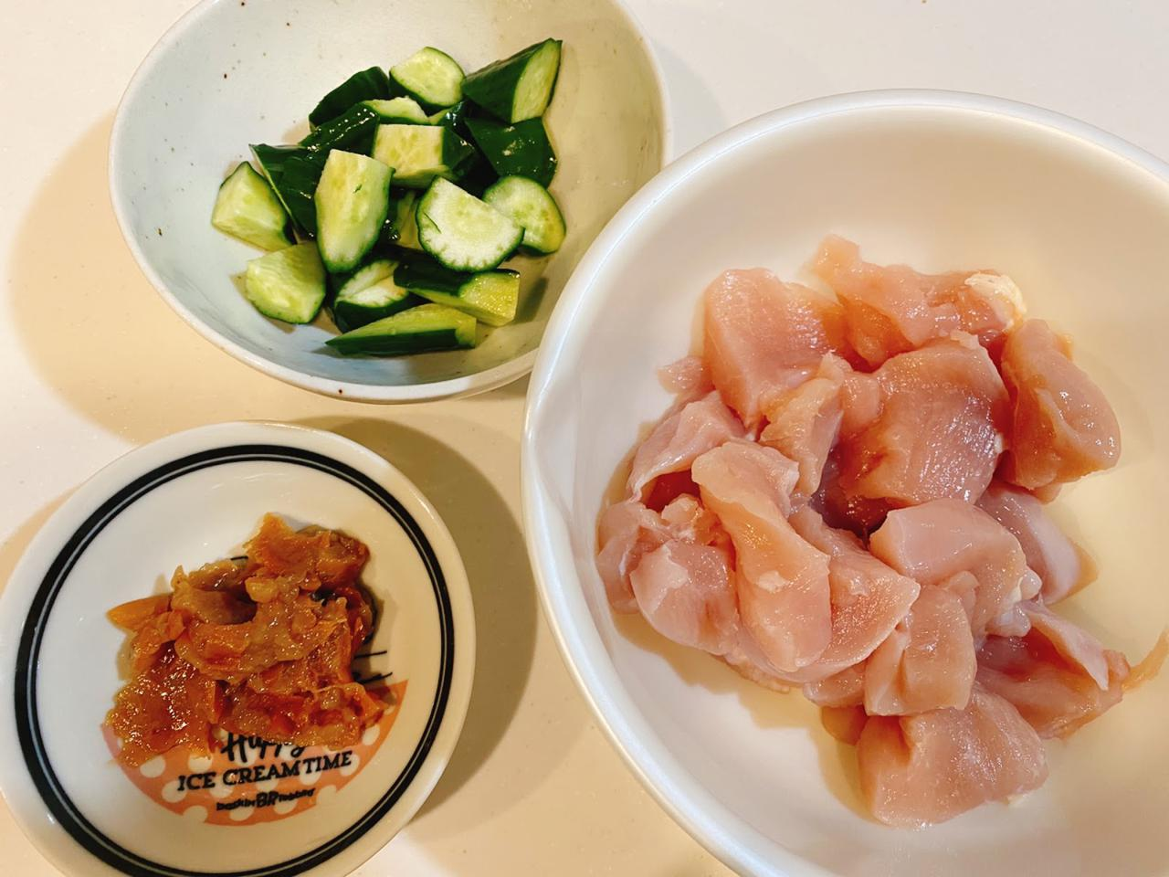 画像: きゅうりと鶏肉の梅炒めの作り方