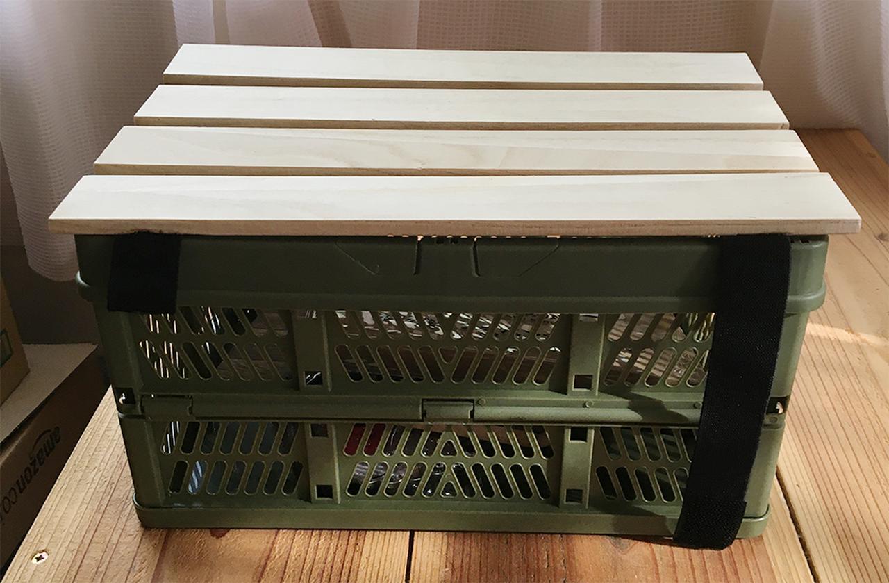キャンプテーブルを簡単DIY!「折りたたみコンテナテーブル」の作り方