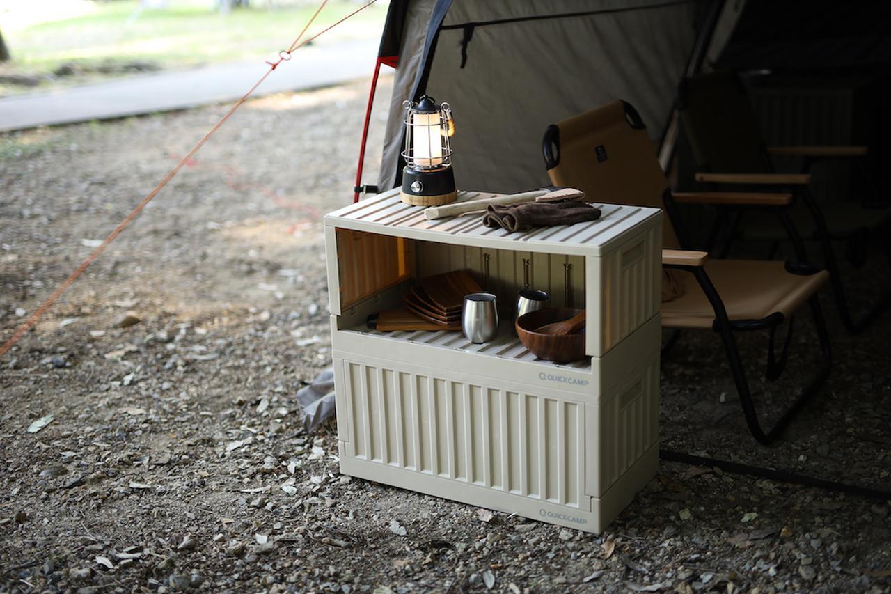 【注目リリース】収納にテーブルに大活躍。キャンプで便利な「QUICKCAMP(クイックキャンプ )」の蓋付きストレージが登場。