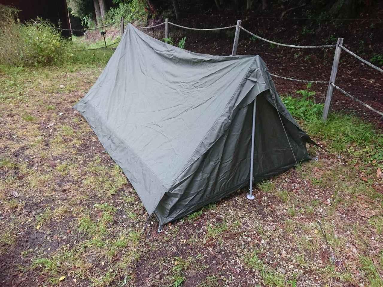 【F1テントレビュー】ソロキャンプにおすすめ! 被り知らずの最強軍用テントを使ってみた