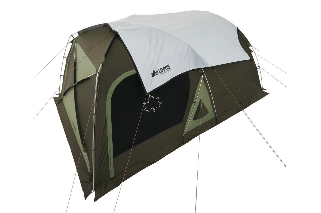 【注目リリース】暑さ対策★テントにかぶせるだけ! LOGOS(ロゴス)の「ソーラーブロック トップシート300-BJ」で室内を快適に。