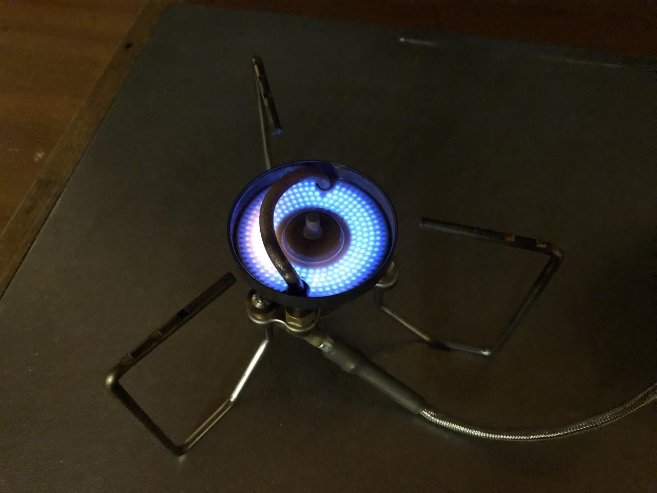 画像: 筆者撮影 ストームブレイカーを最大限弱火にした状態