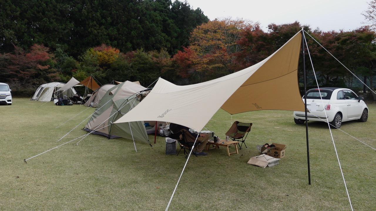 【キャンプデビュー】初めての夫婦キャンプその1~キャンプ場到着からテント・タープ設営まで~