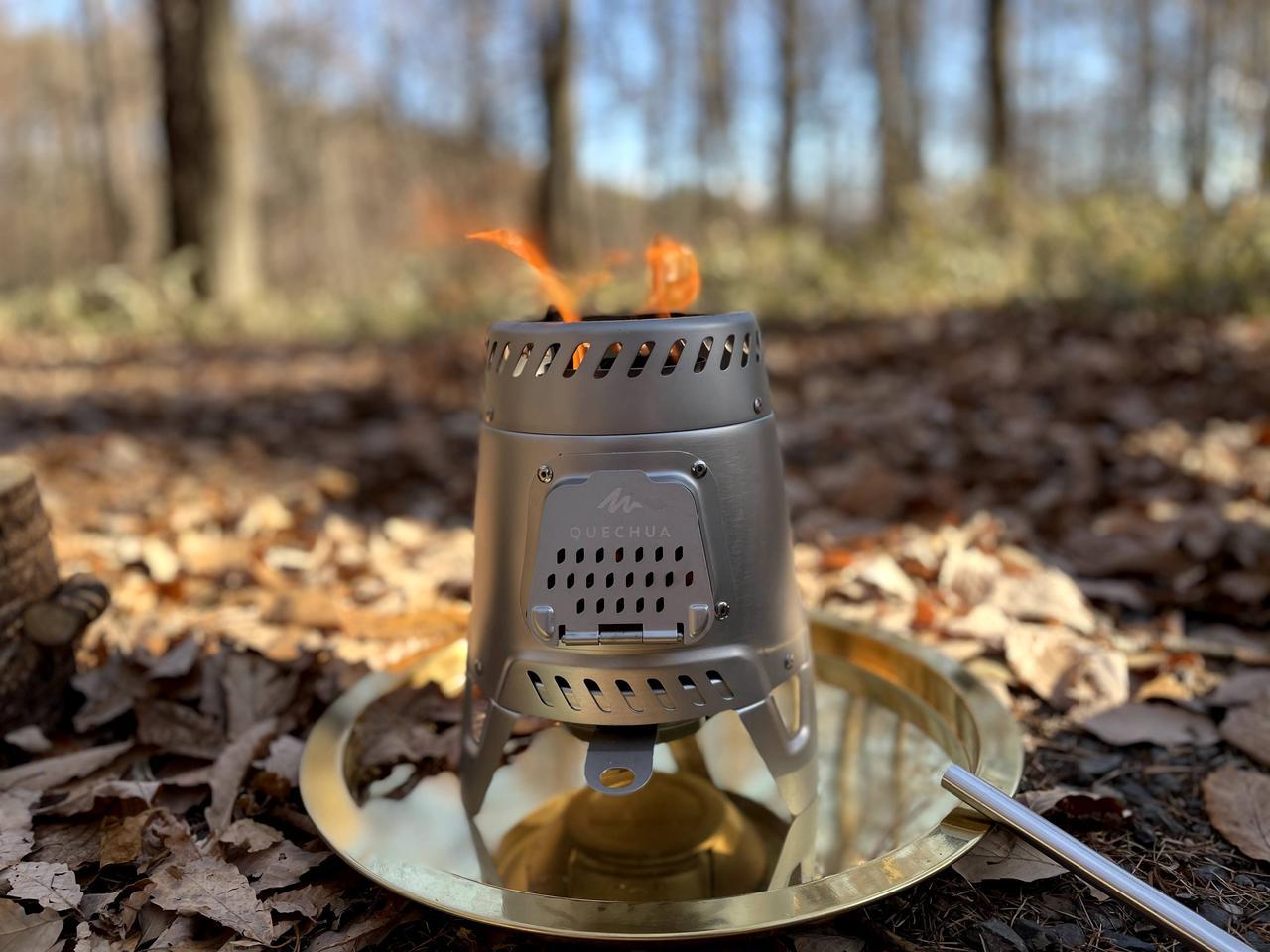 【徹底レビュー】燃料を現地調達して焚き火や調理ができる! デカトロンの『QUECHUA (ケシュア)キャンプウッドストーブMH500』がすごい