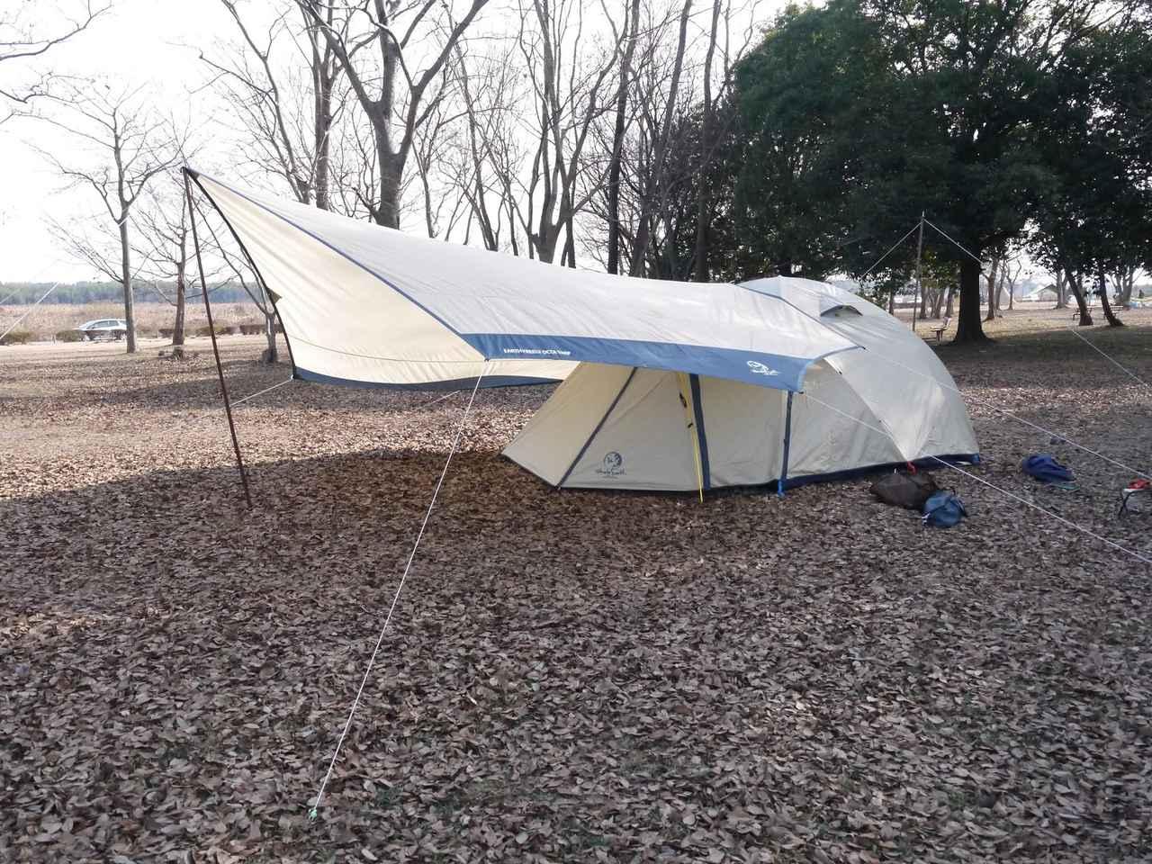 【小川張りの方法】テントとタープの連結に挑戦しよう! メリットやデメリットもご紹介