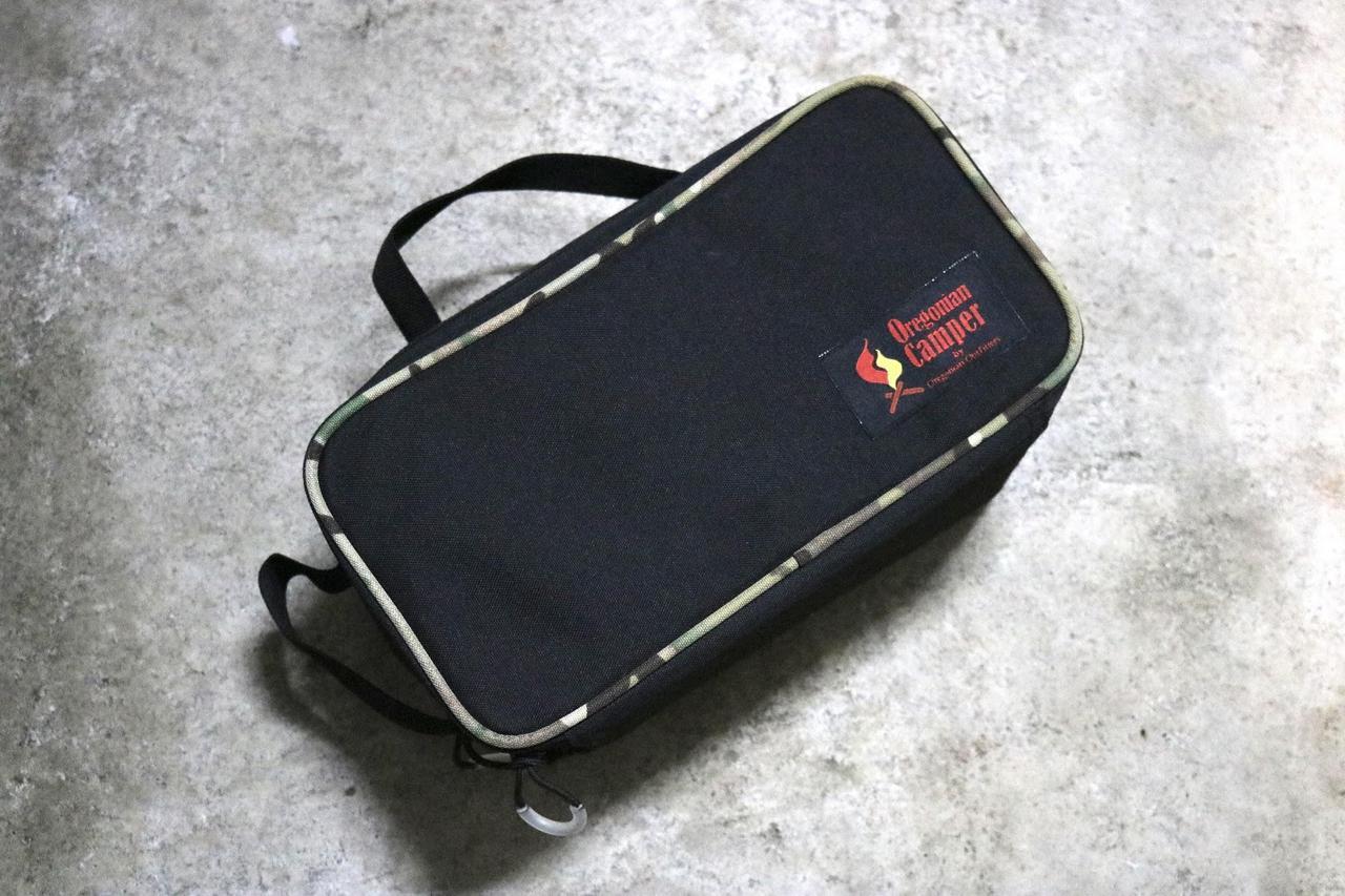 ギアはOregonian Camperの『セミハードギアバッグ』に収納! 衝撃にも強いから安心