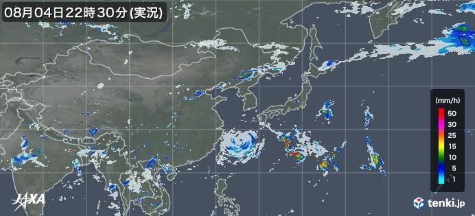 tenki.jp×JAXA 東アジアの雨雲の動き2021年05月18日00:00(日本時)発表)